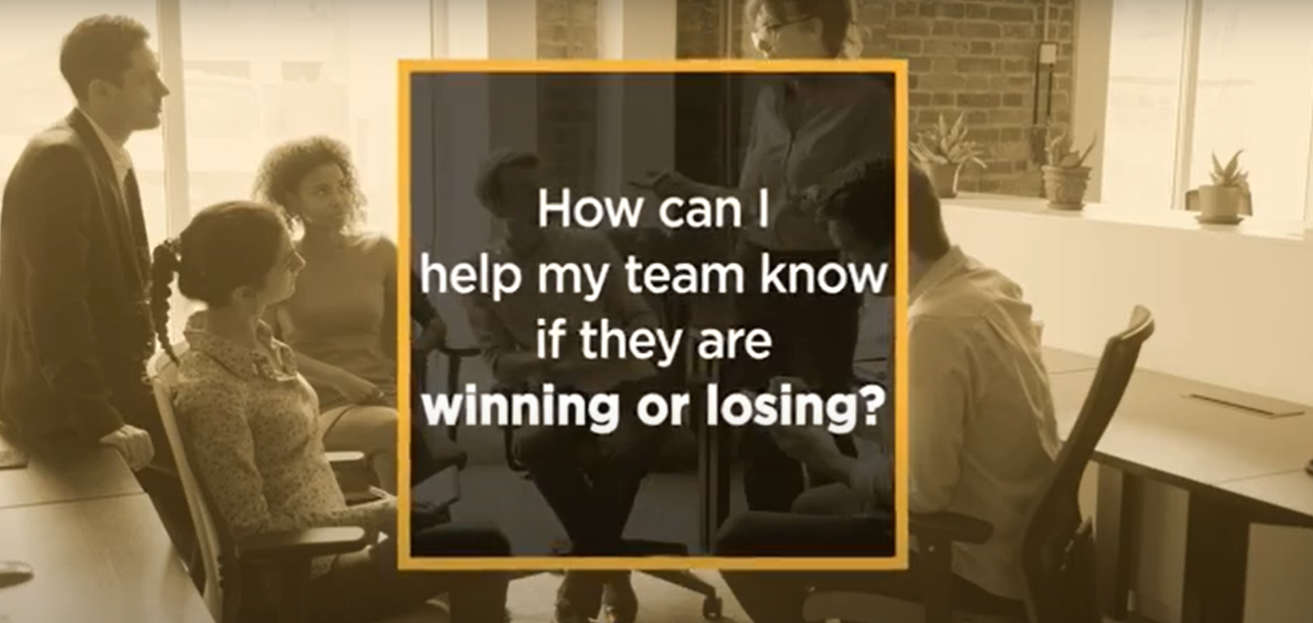 Video: How can I let my team know if they are winning or losing?