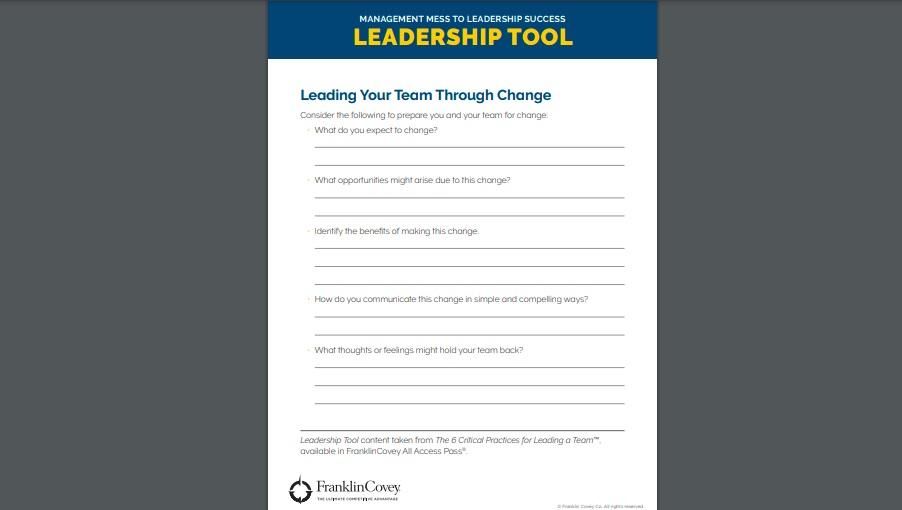 Tool: Leading Your Team Through Change