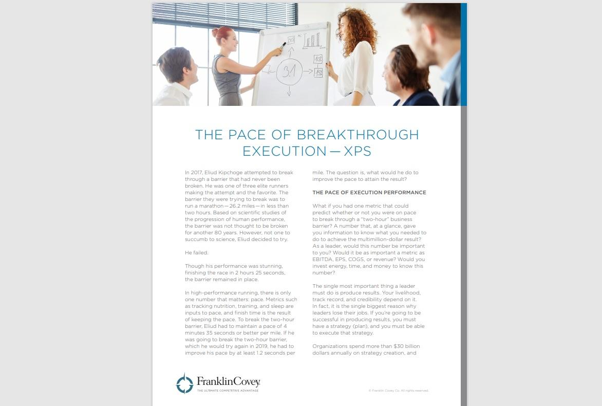 Whitepaper: The Pace of Breakthrough Execution - XPS