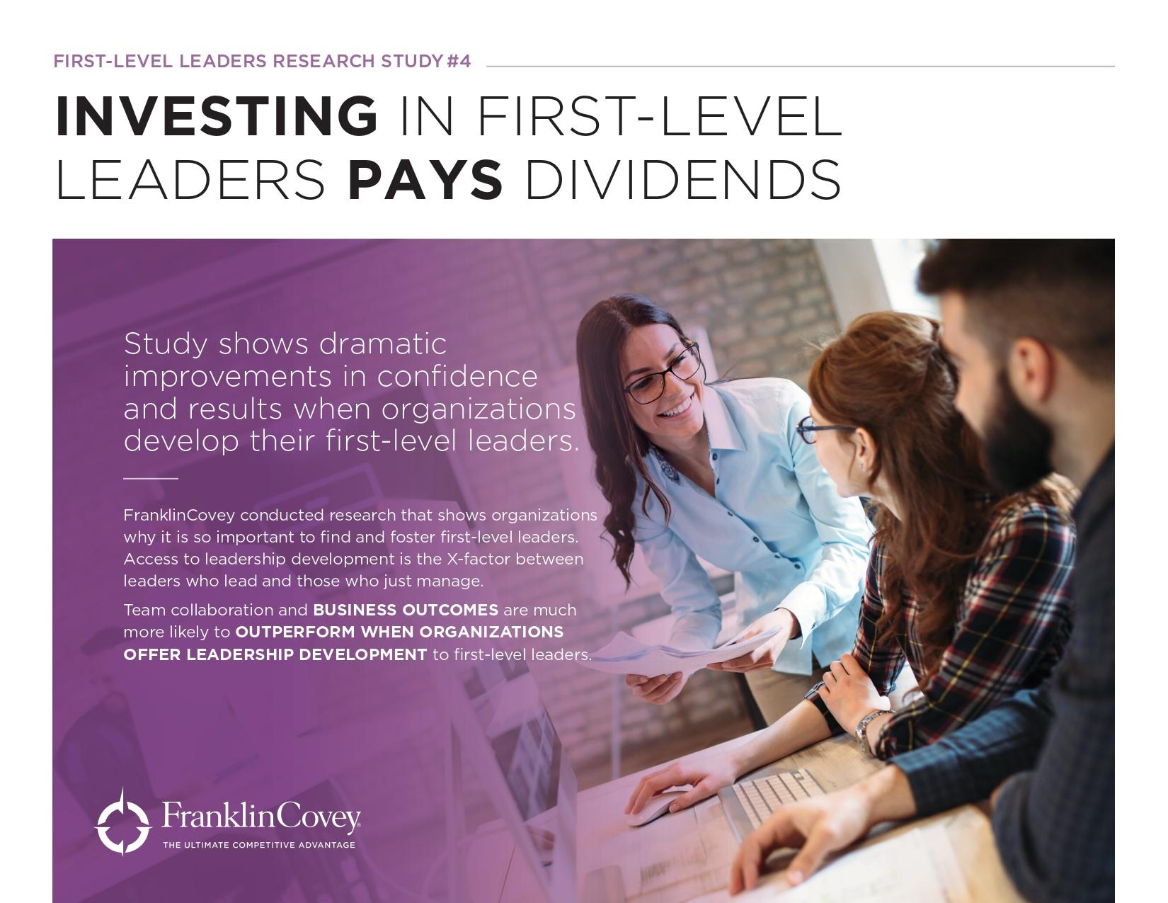 Whitepaper: Investing in First Level Leaders